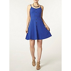 Dorothy Perkins - Blue button cami dress