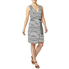 Dorothy Perkins - Navy stripe wrap dress