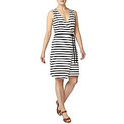 Dorothy Perkins - Navy stripe wrap dress