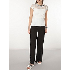Dorothy Perkins - Ivory lace sports t-shirt