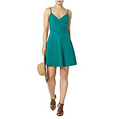 Dorothy Perkins - Green wrap camisole dress