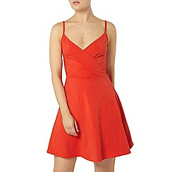 Dorothy Perkins - Red chilli wrap camisole dress