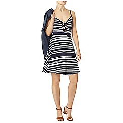 Dorothy Perkins - Navy and ivory wrap cami dress