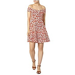 Dorothy Perkins - Red daisy bardot dress