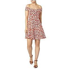 Dorothy Perkins - Red daisy bardot dress