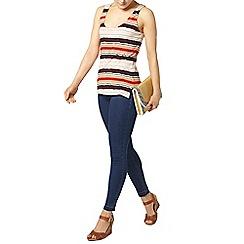 Dorothy Perkins - Navy and orange textured vest