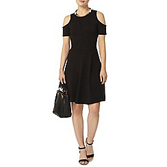 Dorothy Perkins - Black cold shoulder dress