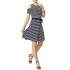 Dorothy Perkins - Stripe cold shoulder dress