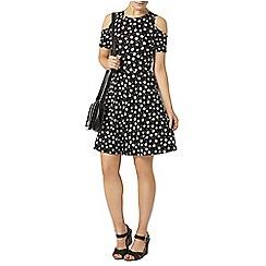 Dorothy Perkins - Black daisy cold shoulder dress