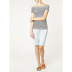 Dorothy Perkins - Tall ivory stripe bardot top
