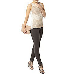 Dorothy Perkins - Neutal ombre lace shell top