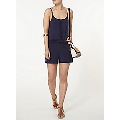 Dorothy Perkins - Navy double layer playsuit