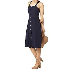 Dorothy Perkins - Navy broderie midi dress