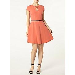 Dorothy Perkins - Rose keyhole belted dress