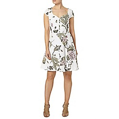 Dorothy Perkins - Ivory floral sweetheart dress