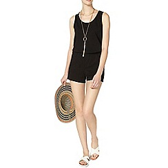 Dorothy Perkins - Tall black macrame playsuit