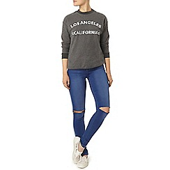 Dorothy Perkins - Charcoal la banded sweat top