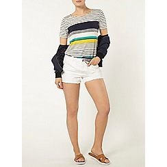 Dorothy Perkins - Navy and yellow stripe t-shirt