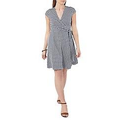 Dorothy Perkins - Navy geo wrap dress