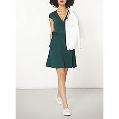 Dorothy Perkins - Green wrap dress