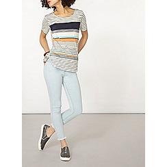 Dorothy Perkins - Blue and orange striped t-shirt