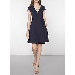 Dorothy Perkins - Tall navy wrap dress