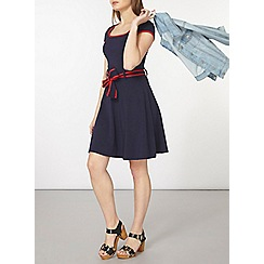 Dorothy Perkins - Navy dress with red tipping