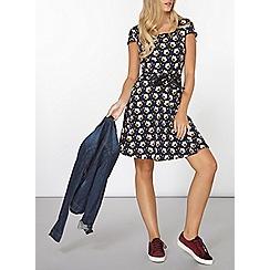 Dorothy Perkins - Navy retro floral print dress