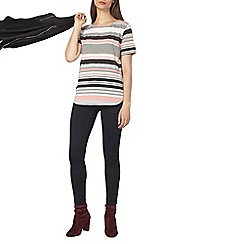Dorothy Perkins - Pink and grey striped t-shirt