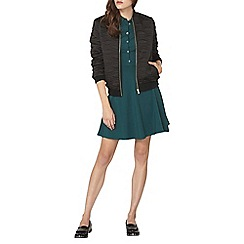 Dorothy Perkins - Green and black button shirt dress