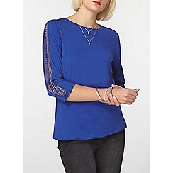 Dorothy Perkins - Blue lace panel top