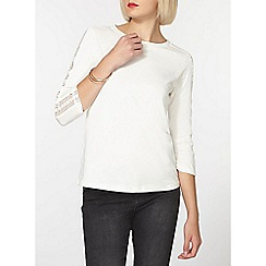 Dorothy Perkins - Ivory lace panel top