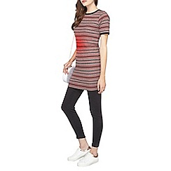 Dorothy Perkins - Grey and pink tipped stripe tunic