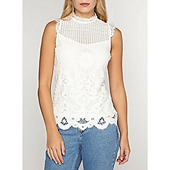 Dorothy Perkins - Ivory lace victoriana top