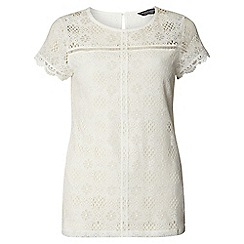 Dorothy Perkins - Tall ivory lace front top