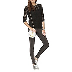 Dorothy Perkins - Black lace long sleeve top