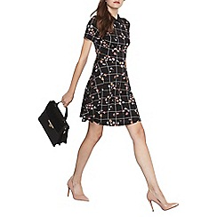 Dorothy Perkins - Black floral collar dress