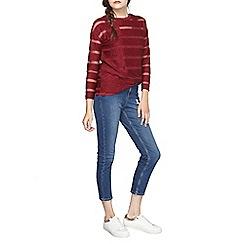 Dorothy Perkins - Berry mesh stripe top