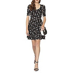 Dorothy Perkins - Black stem floral scoop dress