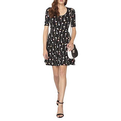 Dorothy Perkins - Black stem floral scoop dress