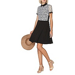 Dorothy Perkins - Black and ivory lace collar dress