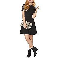 Dorothy Perkins - Black lace collar dress
