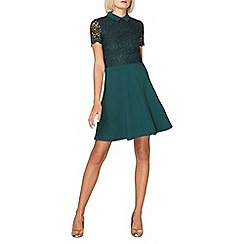 Dorothy Perkins - Green lace collar dress