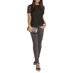 Dorothy Perkins - Blace geo lace front t-shirt