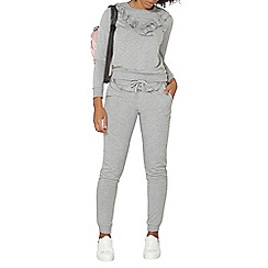 Dorothy Perkins - Grey ruffle joggers