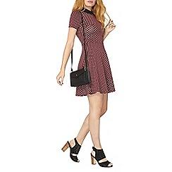 Dorothy Perkins - Berry mini geo collar dress
