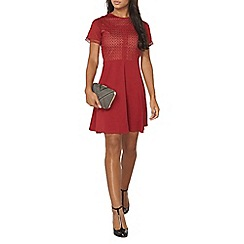 Dorothy Perkins - Red mixed lace dress