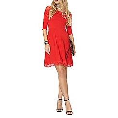 Dorothy Perkins - Red lace bardot dress