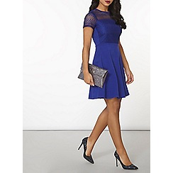 Dorothy Perkins - Cobalt lace dress