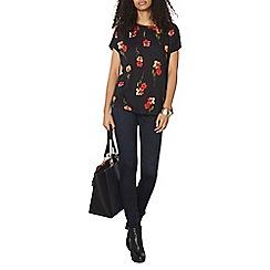 Dorothy Perkins - Black floral t-shirt
